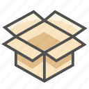 box, delivered, delivery, open, order, package, parcel icon