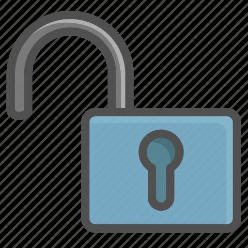 open, unlock, unlocked, unsafe, unsecure icon