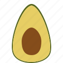 avocado, food, fruit, health, tropical fruit, vitamins icon