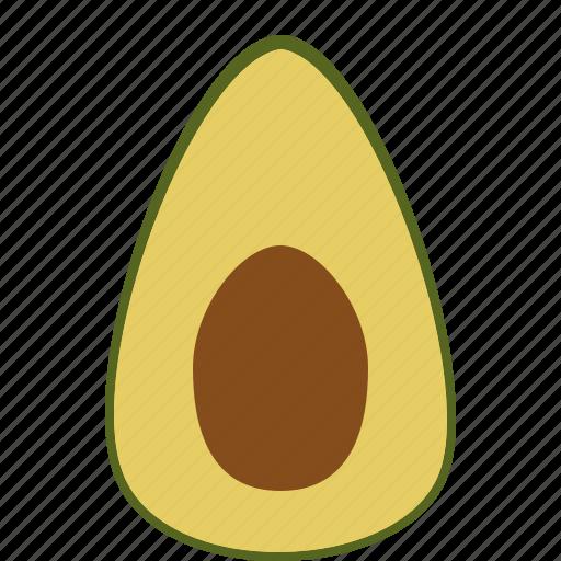 avocado, food, fruit, health, tropical fruit, vitamins icon