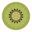 fresh fruit, fruit, kiwi, tropical fruit, vitamins icon