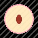 fresh, fruit, peach icon