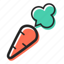 carrot, food, garden, healthy, salad, soup, vegetable icon