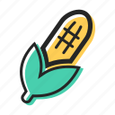 corn, field, food, pizza, popcorn, vegetable icon