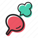 field, food, healthy, radish, vegetable icon