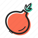 food, healthy, onion, pizza, salad, soup, vegetable icon