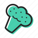 broccoli, cook, food, garden, pizza, salad, vegetable icon