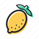 food, fruit, health, juice, lemon, tasty, tropical icon
