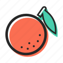 food, fruit, health, juice, orange, tasty, tropical icon