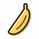 banana, food, fruit, health, tasty, tropical icon