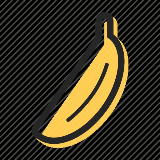 banana, food, fruit, health, tasty, tropical icon