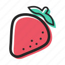 food, fruit, healthy, juice, strawberry, sweet, yogurt icon