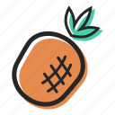 food, fruit, health, juice, pineapple, tasty, tropical icon