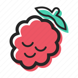 berry, food, forest, fruit, healthy, raspberry, sweet icon