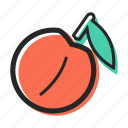 avenue, fruit, healthy, juice, peach, sweet, yogurt icon
