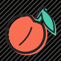 avenue, fruit, healthy, juice, peach, sweet, yogurt icon