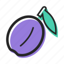 avenue, food, fruit, healthy, juice, plum, sweet icon