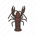 crawfish, crayfish, freshwater, freshwater lobsters, lobster, mudbugs icon