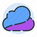 cloud, clouds, cloudy, rain, sun, upload icon