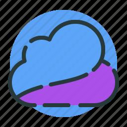 cloud, clouds, cloudy, rain, sun, upload icon