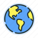 direction, global, globe, location, pointer, web icon