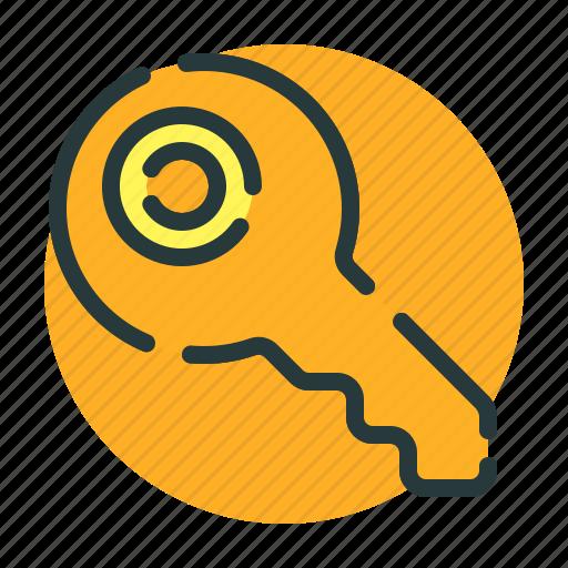 access, key, keyboard, safety, unlock icon
