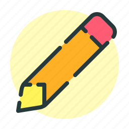 office, paper, pencil, text icon