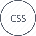 code, css, languages, programming icon