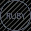 languages, program, programming, ruby icon