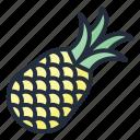 pineapple, food, fruit, juicy, tropical fruit