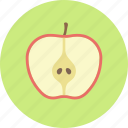 apple, delicious, doctor, food, fruit, plant, seed icon