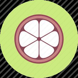 food, fruit, mangosteen, plant icon