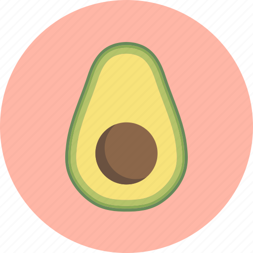 avocado, food, fruit, plant, seed icon
