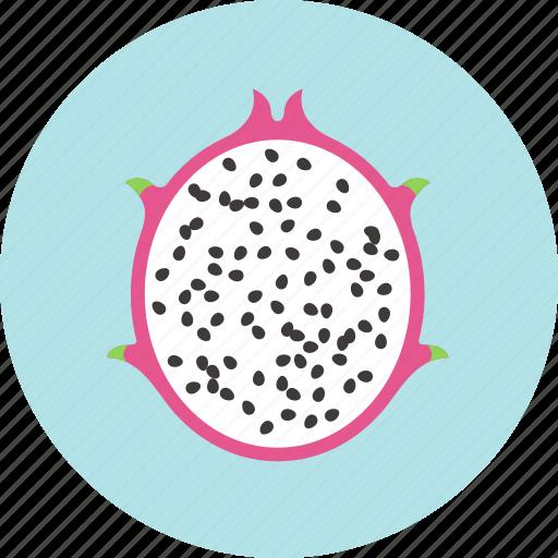 dragon fruit, food, fruit, pitaya, plant, seed icon