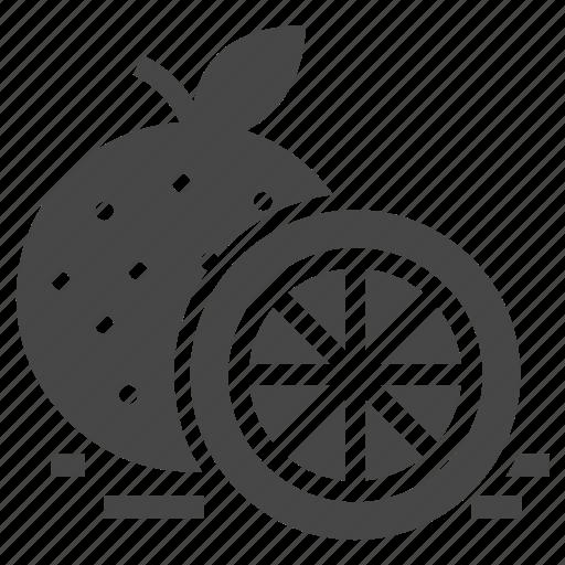 citrus, food, orange icon