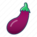 aubergine, brinjal, diet, eggplant, vegetable icon