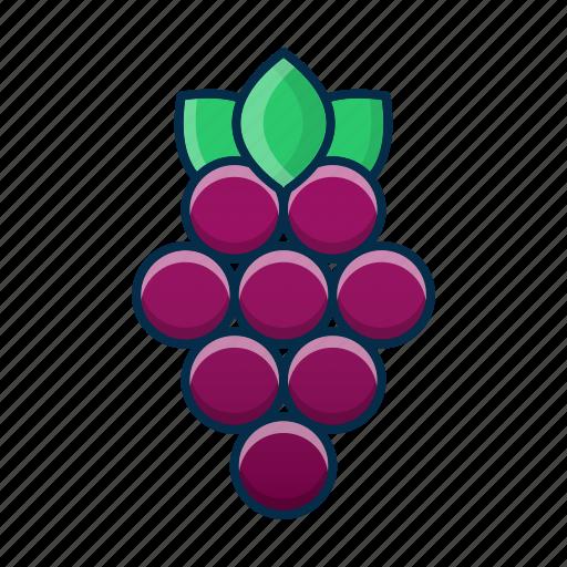 dessert, food, fruit, grapes, summer, tasty icon