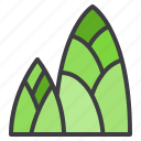 bamboo, food, fruit, healthy, shoot, vegetable icon