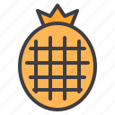 food, fruit, healthy, pineapple, vegetable icon
