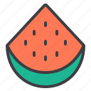food, fruit, healthy, vegetable, watermelon icon