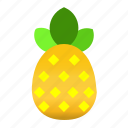food, fruit, pineapple, pineapple fruit icon, pineapple icon