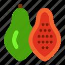 fruit, papaya, papaya fruit icon, papaya icon icon