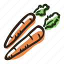 carrot, field, food, garden, healthy, salad, vegetable icon