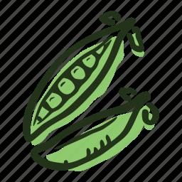 field, food, garden, healthy, pea, soup, vegetable icon