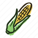 corn, field, food, garden, healthy, popcorn, vegetable icon