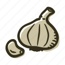 field, food, garden, garlic, healthy, vegetable icon