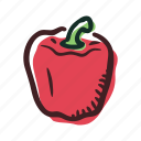 field, food, garden, healthy, pepper, vegetable icon