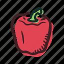 field, food, garden, healthy, pepper, vegetable