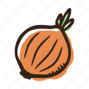 field, food, garden, healthy, onion, vegetable icon