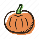 food, garden, healthy, pumpkin, vegetable icon